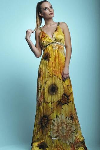 dress baccio baccio couture print resort wear yellow bikiniluxe