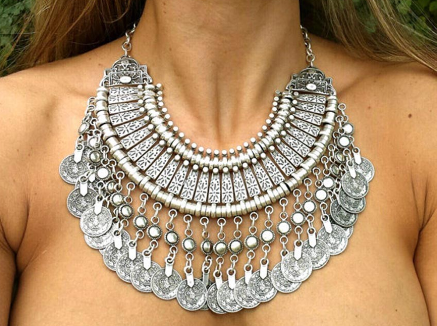 Coins Statement Necklace
