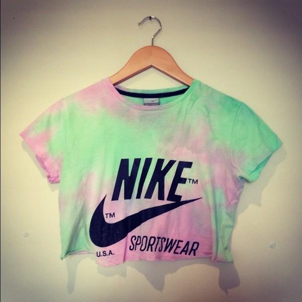 t-shirt tie dye nike shirt tie dye nike crop tops tank top tie dye top