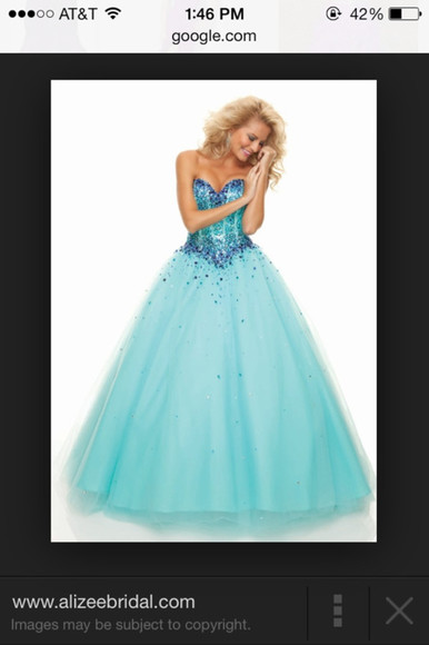 blue dress sequins prom dress ball gown princess dress tulle dress