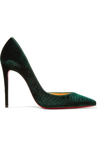 100 pumps velvet shoes