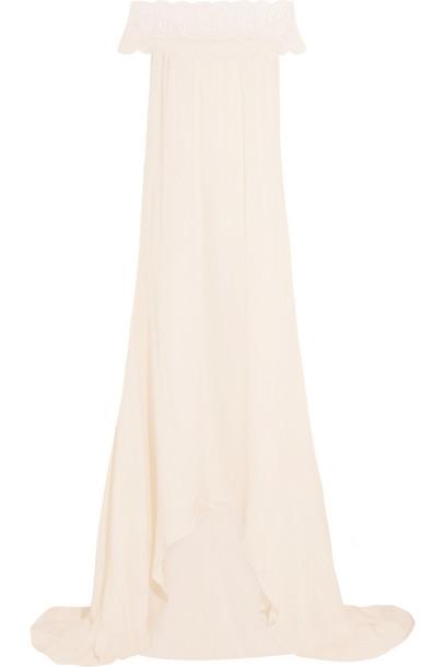 self-portrait gown lace satin dress