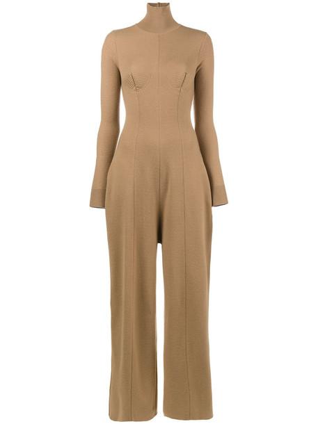 Stella McCartney jumpsuit women nude cotton wool