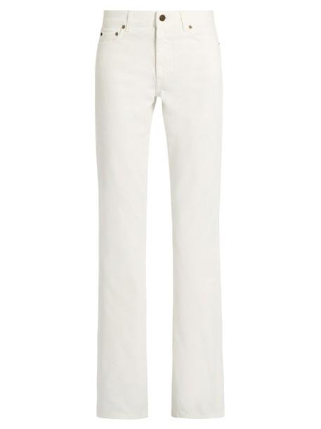Saint Laurent jeans white