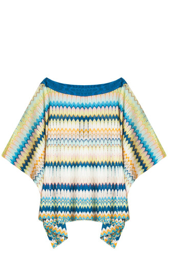 poncho blue top