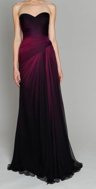 431df92e18 Dress ombre dress prom dress long prom dress dark black prom dress ombre  prom dress jpg