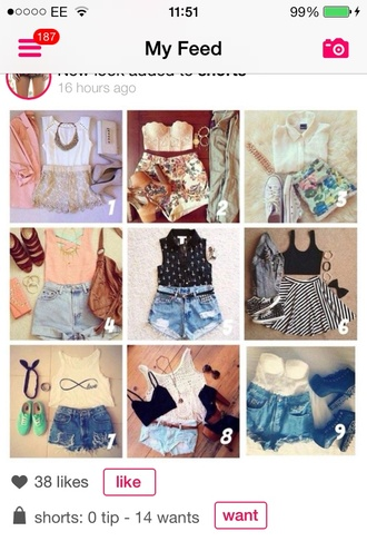 blouse bag belt coat jewels scarf shirt shoes skirt shorts