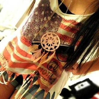 shirt flag fringe