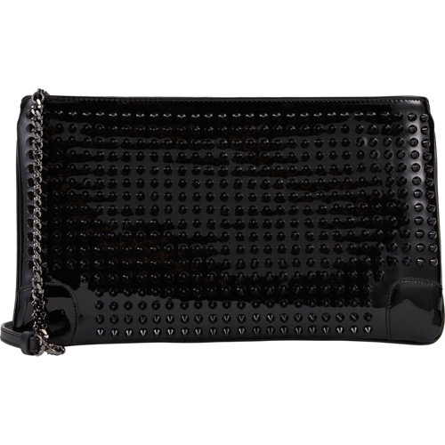 Christian louboutin loubiposh studded clutch at barneys.com