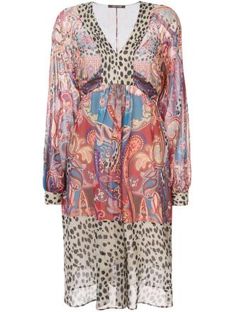 dress printed dress women silk paisley