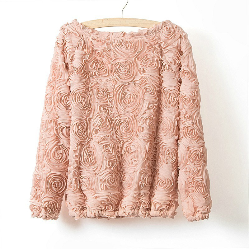 sale White/Pink/Rose Red Autumn NEW BRAND Pullover Women 3D ...