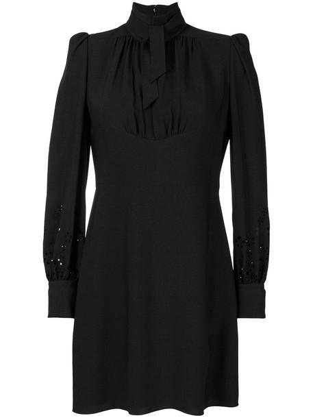 Chloe dress bow dress bow women black silk