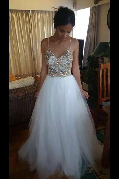 dress ball gown dress prom dress white dress dress