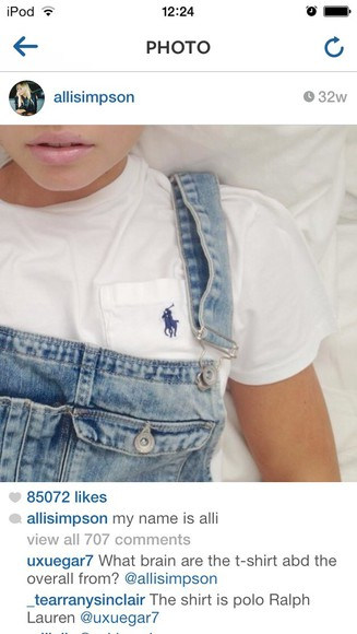 white top top ralph lauren alli simpson