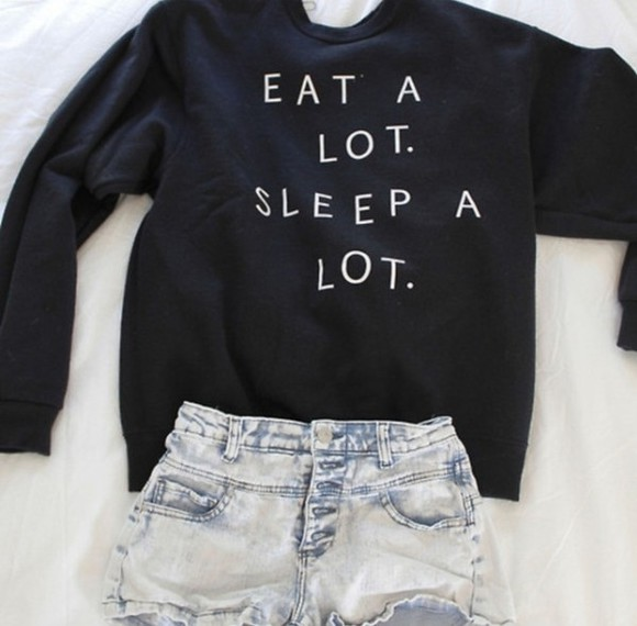 black sweater sweater shorts