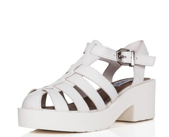 platform shoes sandals chunky sole style white shoes white shoes fashion kawaii shoes miley cyrus
