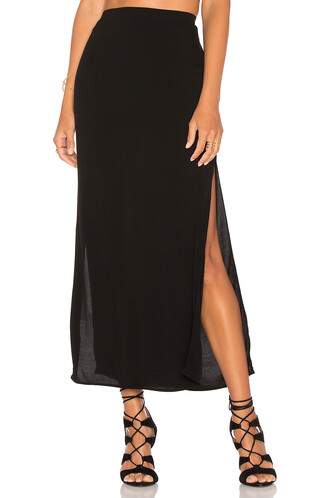 skirt slit skirt long slit black
