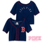 Boston red sox victoria's secret pink® crop baseball jersey - mlb.com shop