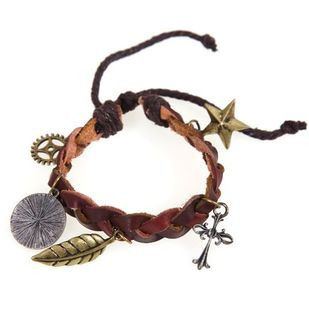 LEATHER WITH CHARMS BRACELET - Rings & Tings | Online fashion store | Shop the latest trends