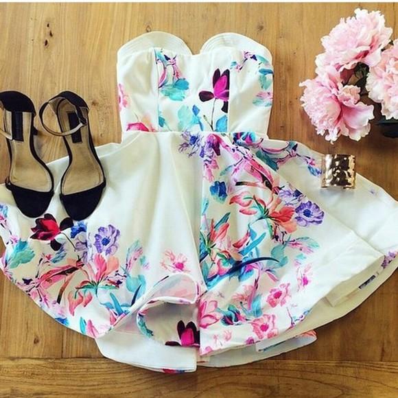 floral dress shortdress