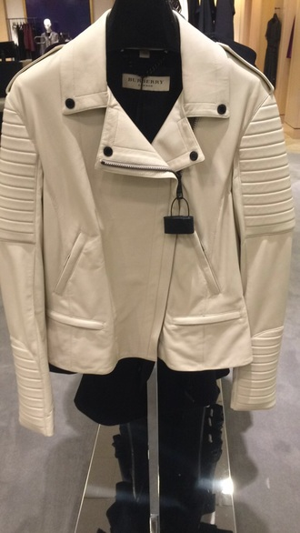 burberry white leather cool jacket leather jacket