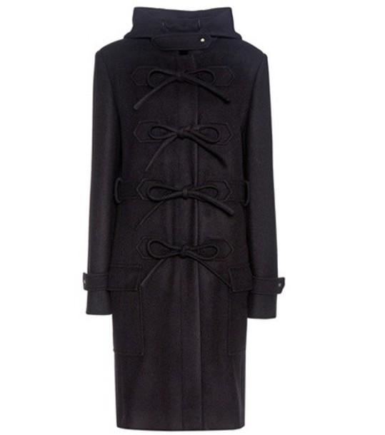 Balenciaga coat wool black