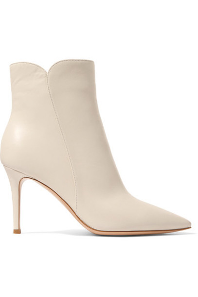 Gianvito Rossi leather ankle boots ankle boots leather white off-white shoes