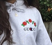 sweater,tumblr,grey,grey sweater,hoodie,embroidered,rose,gucci,champion,trendy,floral,fashion,style,casual,beautifulhalo,champion and gucci,shirt,gucci champion roses hoodie,jacket,gucci champion flower,gucci x champion,champion hoodie,gucci hoodie,grey gucci champion,GUCCI SWEATSHIRT