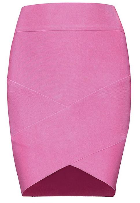 Sexy Tulip Wrap Asymmetric Mini Celebrity Bandage Skirt - More Colors