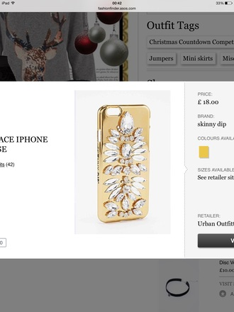 phone case gold cover iphone urban outfitters style
