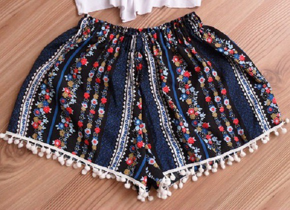 women clothes floral shorts summer shorts