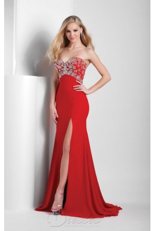 £97 Multi Mermaid Floor-length Sweetheart Red Satin Dress 123-pro-hsha_en_4_41_3 - Dressesonlineshops.co.uk