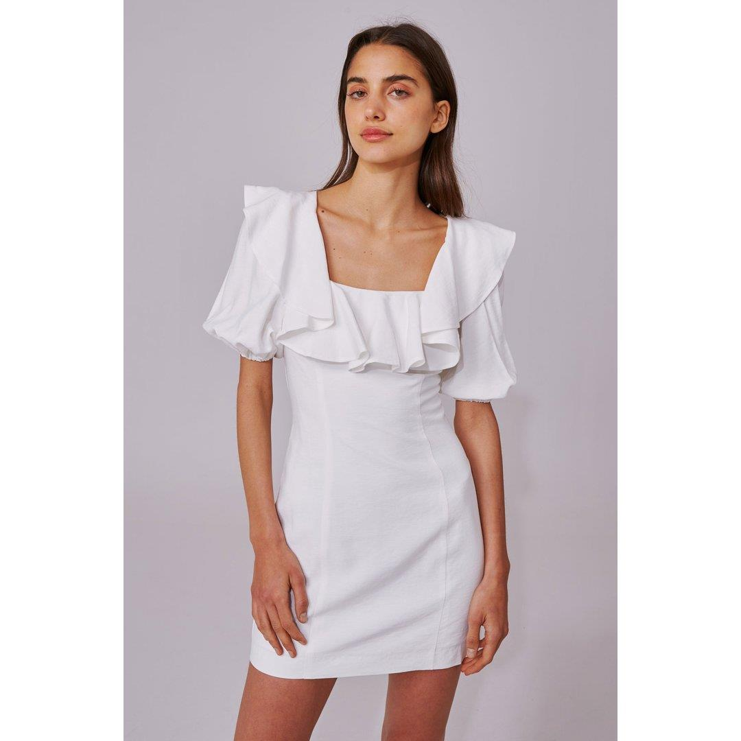 NEW PLACES SS DRESS - IVORY
