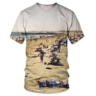 shirt t-shirt sunset beach sublimation allover print santa monica california justin bieber
