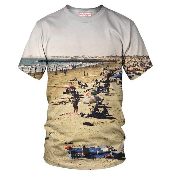 justin bieber t-shirt sunset beach sublimation shirt allover print santa monica california