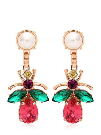 crystal earrings love earrings jewels