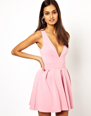 Oh My Love   Oh My Love Skater Dress with V Neck at ASOS