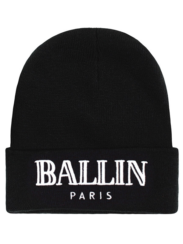 ALEX AND CHLOE / BALLIN IN PARIS - BEANIE - BLACK W/WHITE : ALEX & CHLOE - Brian Lichtenberg, Homies, Wildfox Couture, UNIF, Homies South Central at ALEX & CHLOE