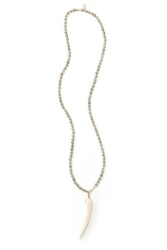 jewels necklace beaded beaded necklace handcrafted necklace gold labradorite antler tip antler necklace