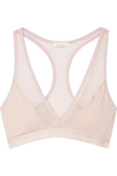 Skin bra pastel soft cotton pink pastel pink underwear