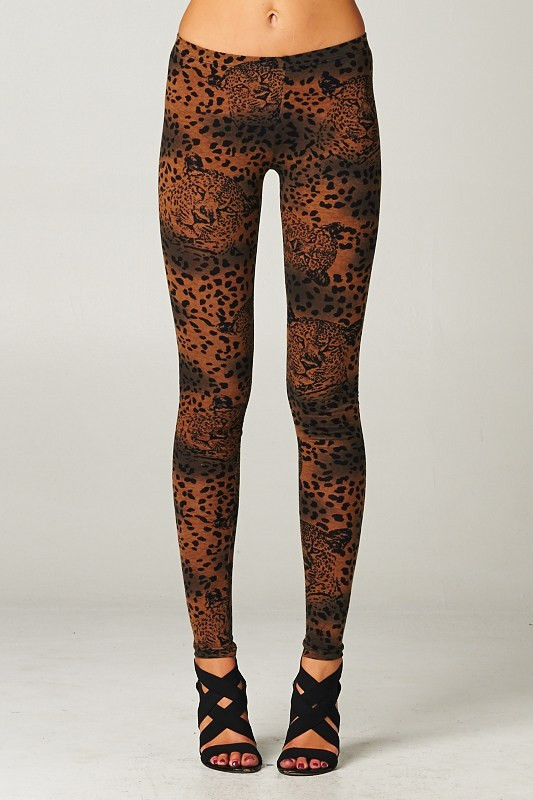 Brown Animal Print Leggings – Betsy Boo's Boutique