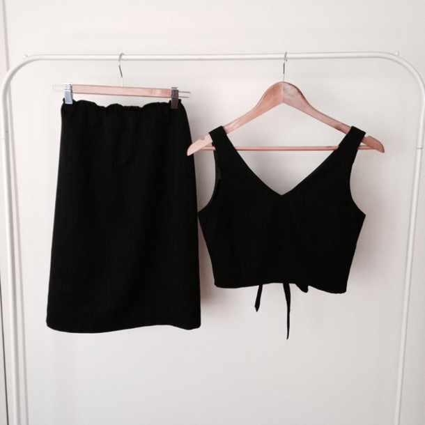 dress matching set matching top and skirt set matching set high waist skirt crop tops