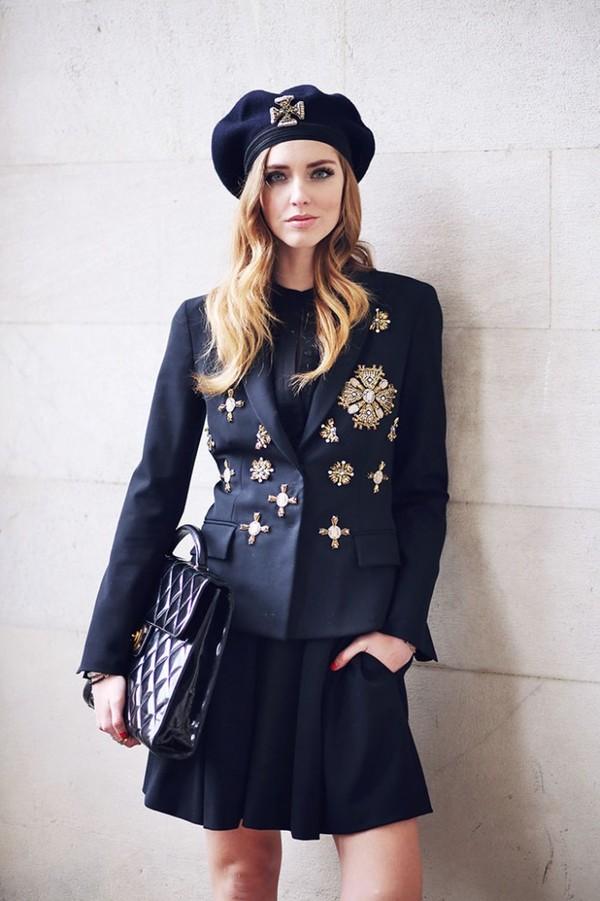 the blonde salad shoes jacket skirt hat bag