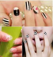nail polish,nail art,nail decal,nail design,nail stickers,beautiful,charming,cool girl style