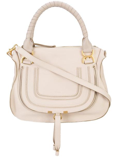 Chloe women bag shoulder bag leather nude cotton