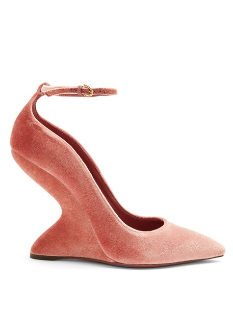 Salvatore Ferragamo pumps velvet light pink light pink shoes