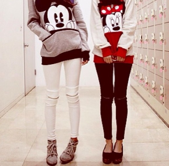 sweater friends mickey mouse hoodies micky shoes jeans pants