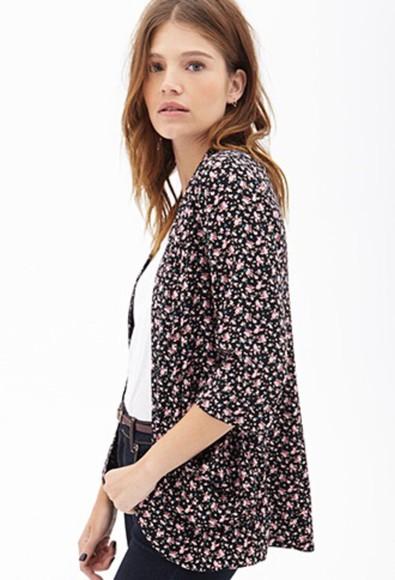jacket fashion style blazer cardigan long light cartigan floral clothes