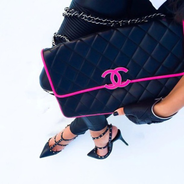 bag chanel cute girly chic shoes