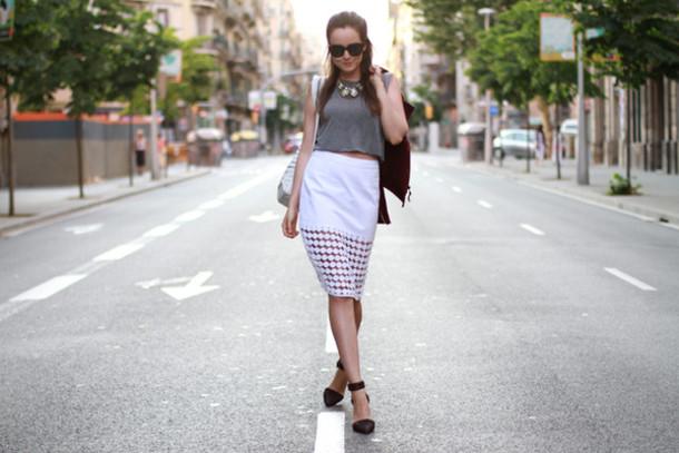 style scrapbook skirt shoes t-shirt bag jacket sunglasses jewels